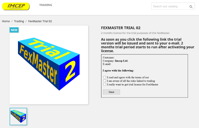 Trial license for FexMaster